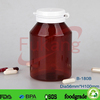 180ml chocolate candy bottle, snap cap candy jar,cylinder shape chewing gum bottle