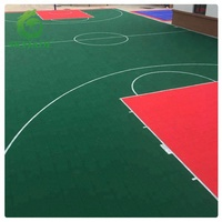 8 Years Warranty Plastic Interlocking Sports PP Flooring For Basketball Court