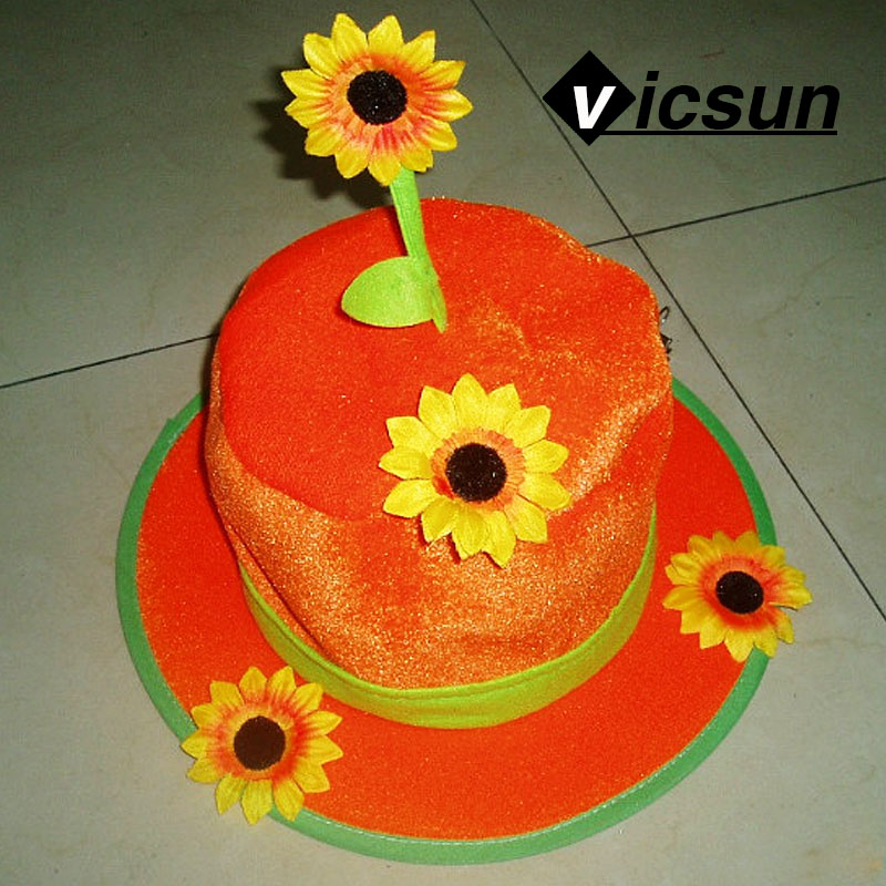 funny cakes top hats series birthday gifts colorful candles sunflowers top hat