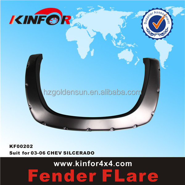 ABS high quality fender flares for silverado fender flare Model 2006