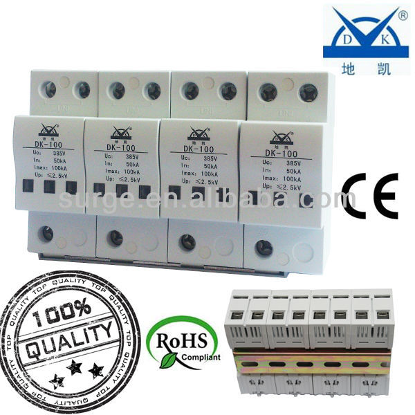 Parallel Type Power Surge Protection Modular DIKI Whight Low Residual Voltage Lightning Protection Device For Fire Danger