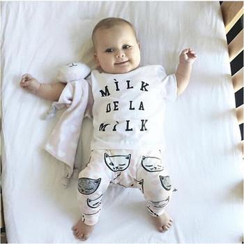 Groothandel Babykleding.Groothandel Babykleding Set Katoen Melk Baby Kinderkleding Sets