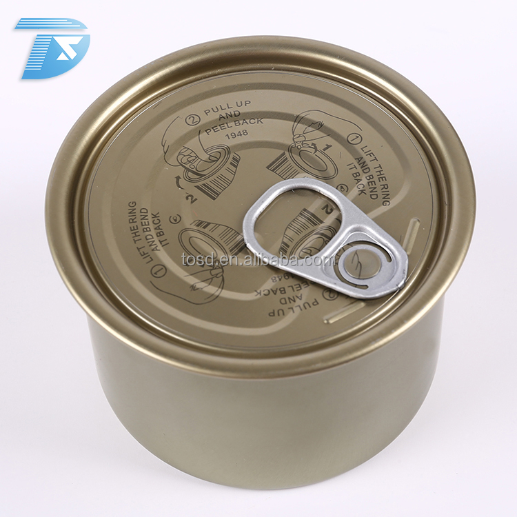 wholesale round shaped cheap185gmeat floss food grade cans tin cans for food canning fish