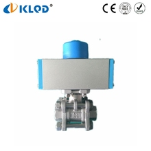 KLQD Brand 1/2 Inch Size Stainless Steel 3 Pcs Pneumatic Ball Valve