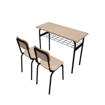 Superbe Middle School Desk And Chair , Double School Combo Chair Desks Connected  Desk And Chair