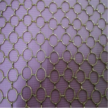 Metal Chain Mail Mesh Shower Curtain