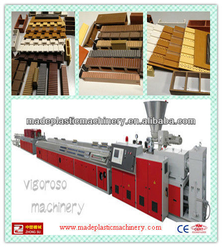 Best! wood plastic composite profile extrusion machine turn key producton line