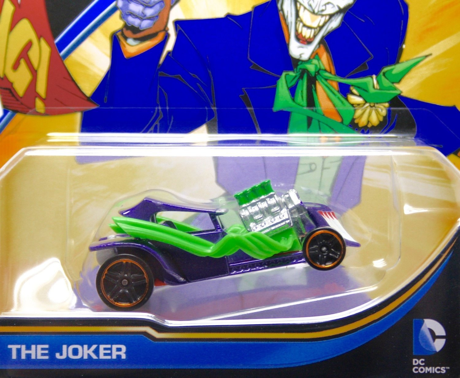 THE JOKER * DC COMICS * 1:64 Scale Hot Wheels Character Vehicle (New 2015 Packaging)