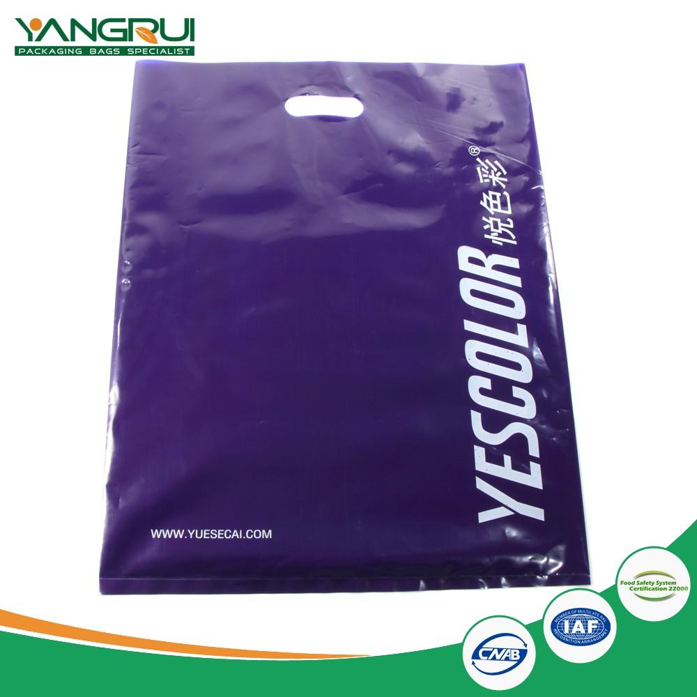 100% Biodegradable Ldpe Plastic Bag Die Cut Bag ...