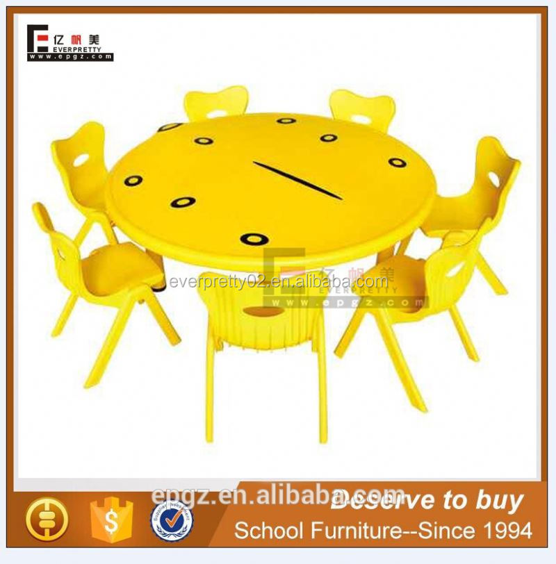 Modern Play School Plastic Furniture Kids Activity Table and Chair Set