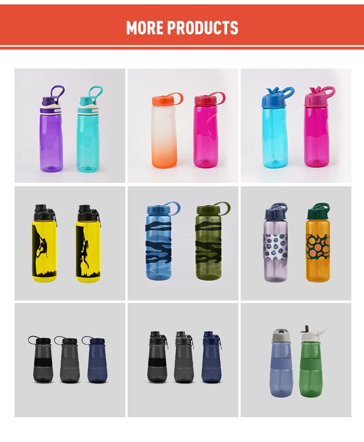En gros randonnée camping portable pp créatif flacon portable personnalisé bouteille d'eau en plastique sans bpa