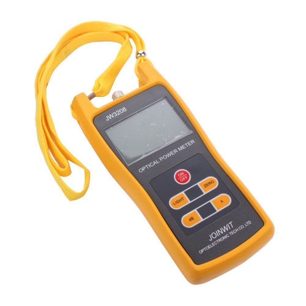 Optical Power Meter - JOINWIT -50 to +26dBm 800~1700nm Optical Power Meter Tester FC SC ST Handheld Optical Power Meter and Light Source