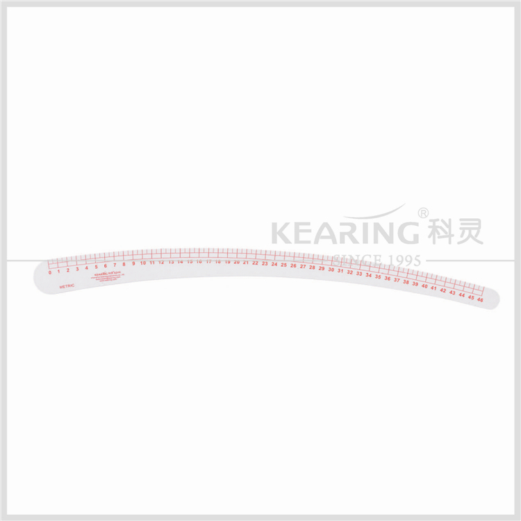 Kearing Plastic 46cm Metric Curve Stick Wide Ruler for sew Tailor Area 6346 Fashion Design Pattern Making Ruler