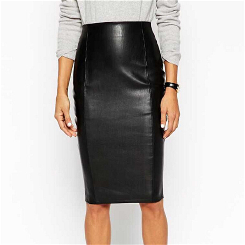 Cheap Faux Leather Knee Length Skirt, find Faux Leather Knee ...