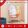 double-pole clothes rack with cover
