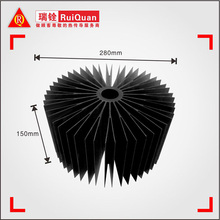 sunflower round anodized Black heatsink/aluminum Extrusion pin fin heat sink for 100W Led high bay light