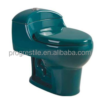 dark green color one-piece siphon toilet ceramic water closet