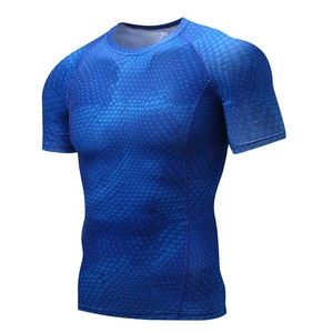 Copper compression running wear short sleeve camisetas t-shirts