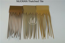 Nuoran High quality low price plastic leaf thatch for roofing