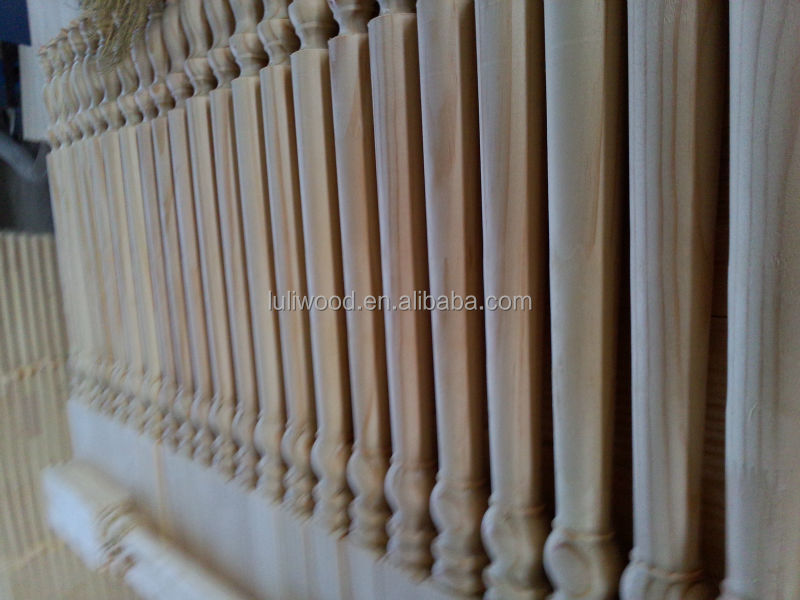 Good quality pine stair railing for decoration