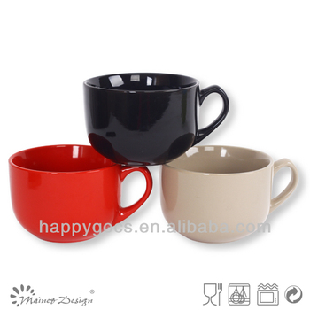 Blue Crockery Jumbo Soup Mug,Soup Mug With Handle,Wholesale Coffee ...