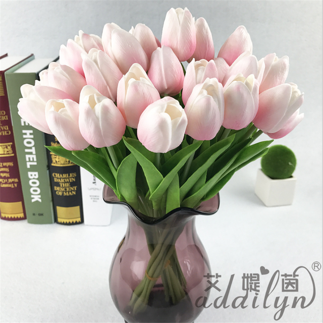 Custom Handmade Home Decor tulip flower artificial bouquet