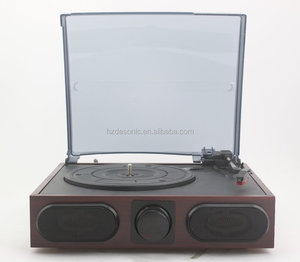 Hot sell wooden optional phonograph vinyl records turntables for sale