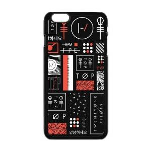 FEEL.Q- 21 Pilots Twenty One Pilots Personalized Protective Black TPU Rubber Cell Phone Case Cover for iPhone 6+ 6Plus 6S Plus