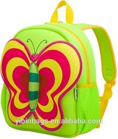 Kids Neoprene School Backpack, Cheap School Backpack, Cute Image of School Bag and Backpack Green