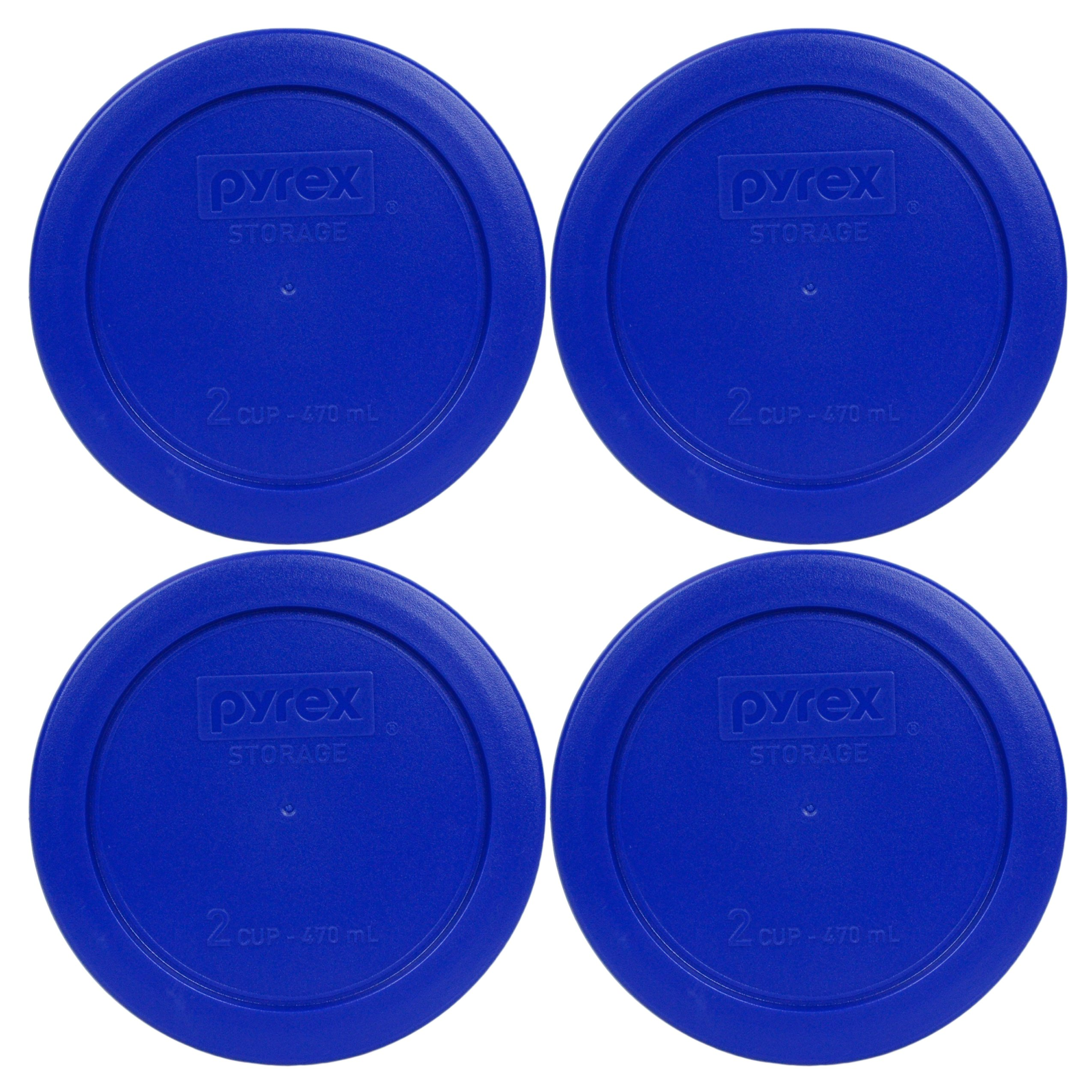 """3 Pack Pyrex Orange 2 Cup 4.5/"""" Round Storage Cover #7200-PC for Glass Bowls"""