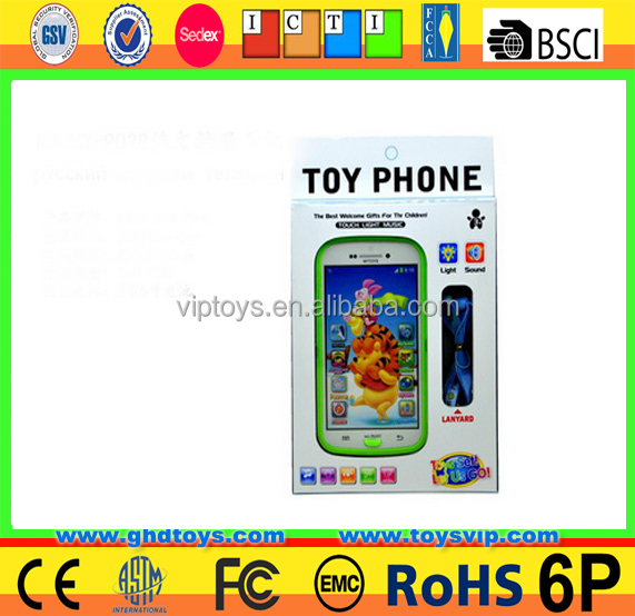 Wholesale kids toys for musical mobile phone with sound effect