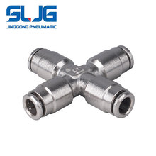 SLJG China Supplier 4 way Air Hose push in brass fitting