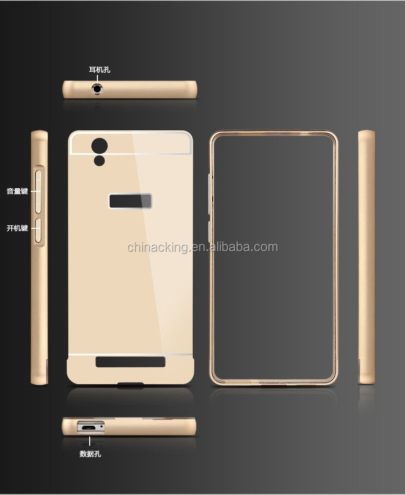 promo code be99f d16c3 Luxury Aluminum Metal Bumper Mirror Back Case Covers for Gionee F103, View  case covers for gionee f103, CKING Product Details from Shenzhen Cking ...