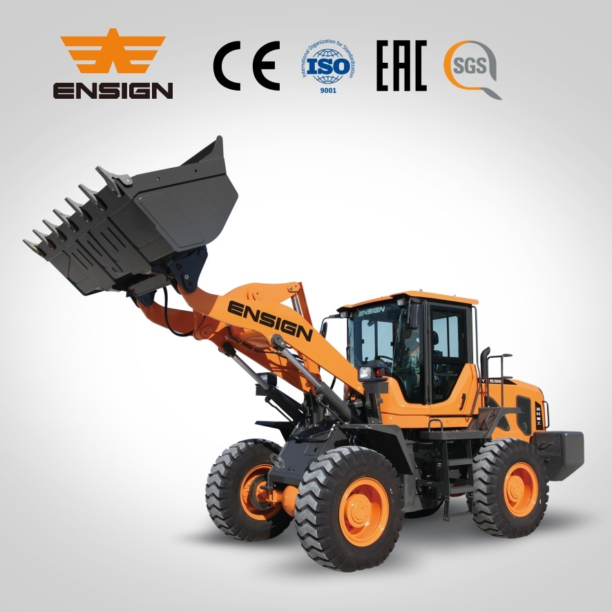 New Chinease front end loader ENSIGN mini wheel loader YX638 skid loader