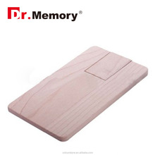 Dr.memory 2GB 4GB 8GB 16GB 32GB 64GB Wooden credit business card shape pen drive 2.0 USB flash drive memory Stick Wooden Package