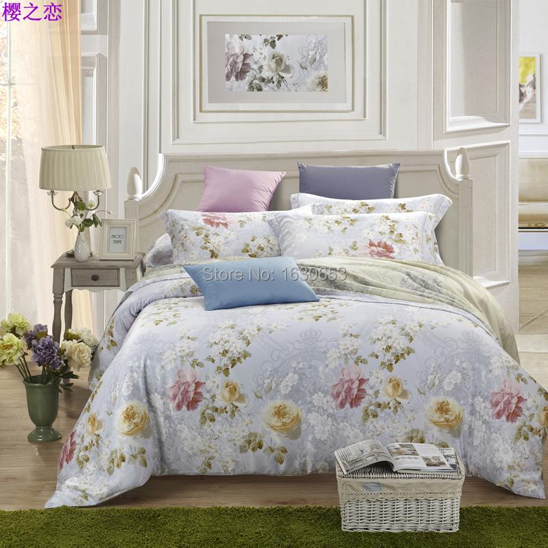 la fleur de cerisier amour couvre lit de literie couverture de lit drap de lin literie set. Black Bedroom Furniture Sets. Home Design Ideas