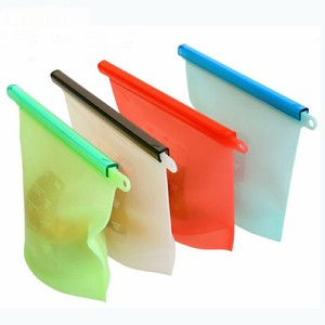 High Quality Custom Reusable Silicone Plastic Packaging Food Zip Silicon Freezer Fresh Vegetable Storage Bags