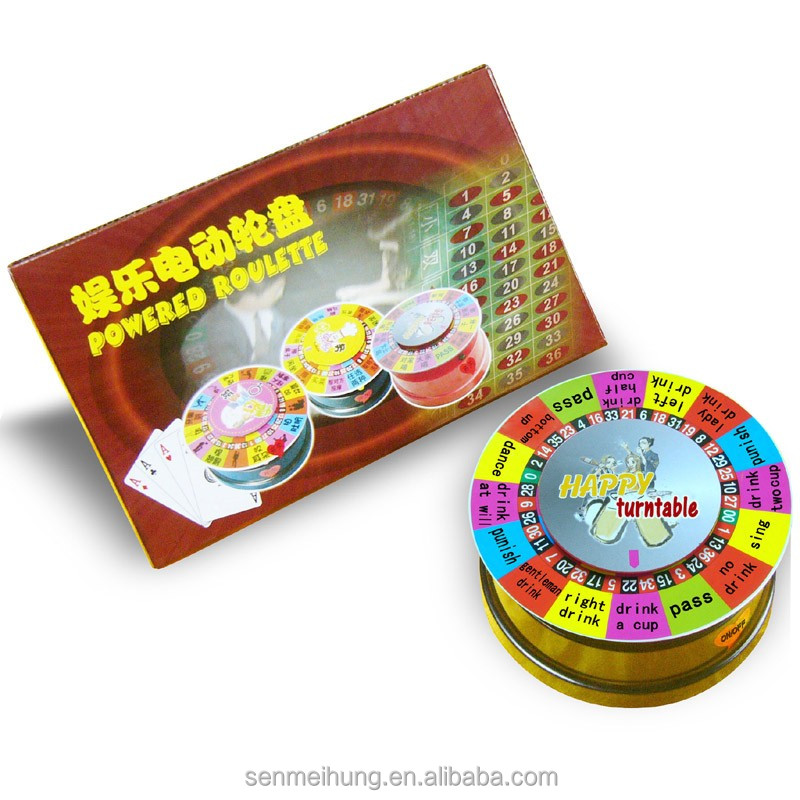 Venda quente mini beber sorte roulette wheel game set