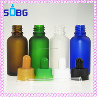clear frosted glass dropper bottle for vapor e juice packing clear matte glass e liquid bottle wholesale