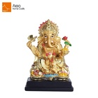 Decoration india vacuum plating and gold painting antique figurine indian hindu statue ganesh idols