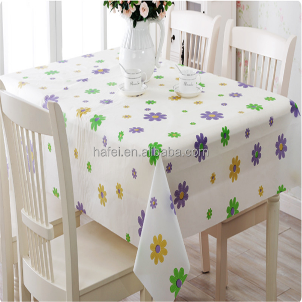 Home Decor Outdoor Party Plastic Waterproof Dining PVC Table Cloth