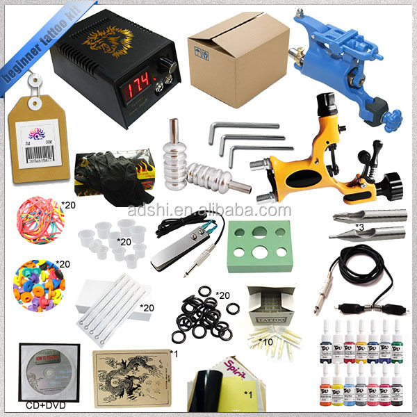 Complete 2 Rotary Tattoo Guns Tattoo Kit With All Accessories ...