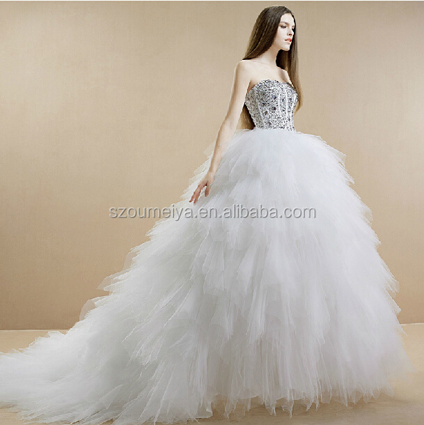 OW59 Oumeiya New Model Stones Diamonds Ball Gown Tulle ...