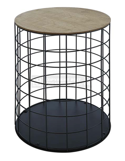 Iron Wire Base Coffee Table Round Metal Side