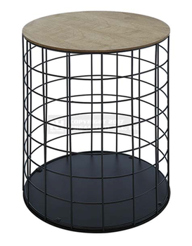 Iron Wire Base Coffee Table,Round Metal Wire Side Coffee Table ...