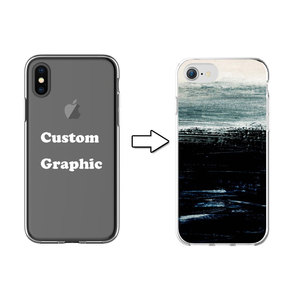 Abstract Scenery Design TPU Print Private Label Cell Phone Case for iPhone X 6 7 8
