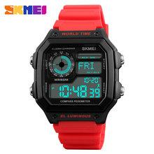 Обратного отсчета компас спортивные часы SKMEI Для мужские часы лучший бренд класса люкс Для часы мужские наручные Водонепроницаемый светоди...(Китай)