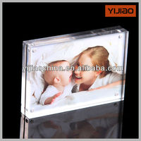Customized Clear Acrylic Block Clear Acrylic Magnetic Photo Frame