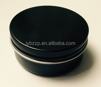 black round metal tins aluminum screw tins