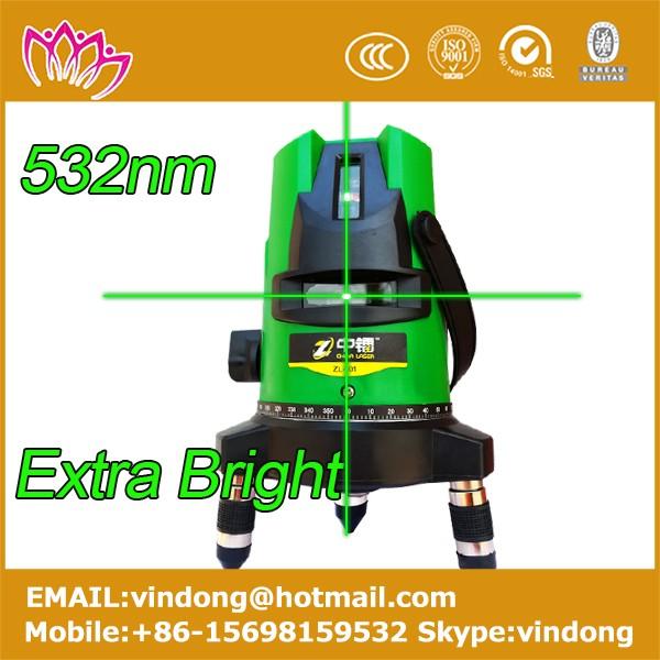 532nm green beam rotary laser level 5 beams 6 points extra bright self leveling construction laser level machine